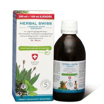 HERBAL SWISS gyógynövény-kivonatokat tartalmazó folyékony étrend-kiegészítő 300 ml