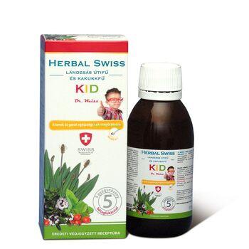HERBAL SWISS KID gyógynövény-kivonatokat tartalmazó folyékony étrend-kiegészítő 150ml