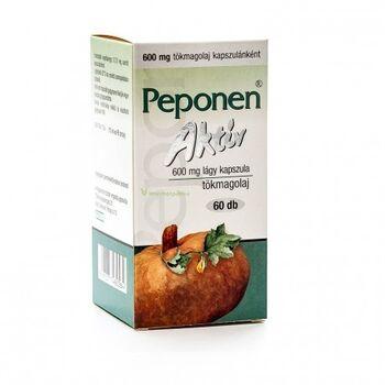 Peponen Aktív 600 mg lágy kapszula 60 db