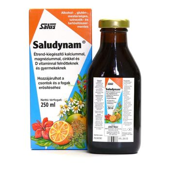 Saludynam étrend-kiegészítő kalciummal, magnéziummal, cinkkel és D-vitaminnal 250ml