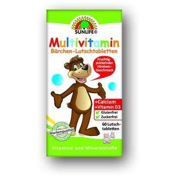 Sunlife Málna ízű multivitamin mackó rágótabletta 60 db
