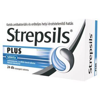 Strepsils Plus tabletta 24 db