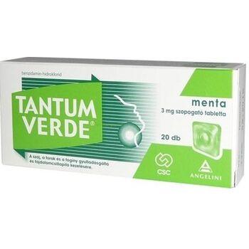 Tantum Verde menta 3mg szopogató tabletta 20 db