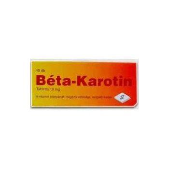 BÉTA KAROTIN TABLETTA 40db