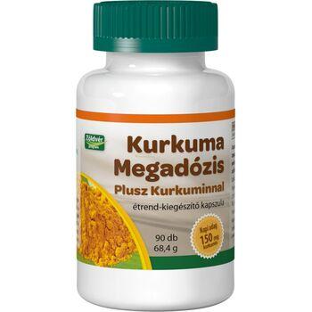 Kurkuma Megadózis Plusz Kurkuminnal étrend-kiegészítő kapszula 90 db