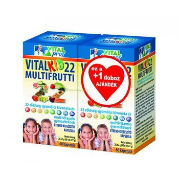 Vitalkid22 Multifrutti kapszula 60x+60x ajándék