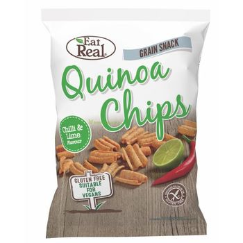 GLUTÉNMENTES  EAT REAL QUINOA CHIPS CHILIS ÉS LIMEOS  30G