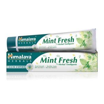 Himalaya Herbals Gum Expert  Frissitő mentás, fluoridmentes gyógynövényes fogkrém gél 75 ml