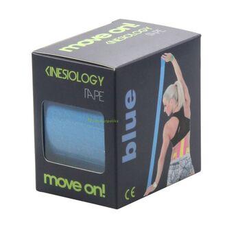 Move on! kineziológiai szalag (tape) kék színben 1db