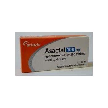 Asactal 100 mg gyomornedv ellenálló tabletta 30db