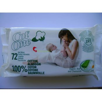 COT-ONE BIO BABY WIPES BABATÖRLŐKENDŐ 72 db