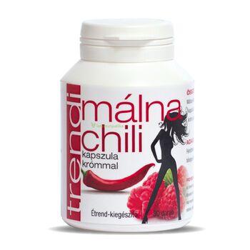 Trendi Málna-Chili kapszula krómmal Étrend-kiegészítő