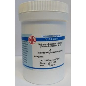 Schüssler-só Nr.8 natrium chloratum D6 100 g (400 db)