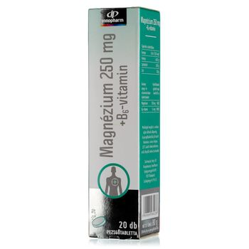 Innopharm Magnesium 250 mg + B6 pezsgőtabletta 20db