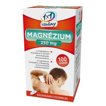 1x1 Vitaday Magnézium 250 mg filmtabletta 100db