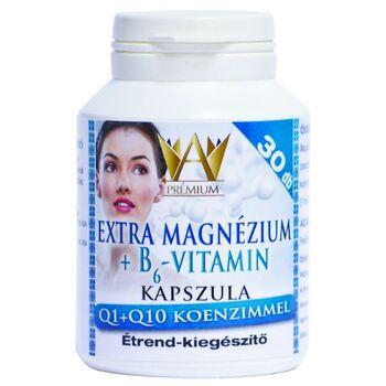 Prémium Extra magnézium +  B6 vitamin + Q1Q10 kapszula 30db