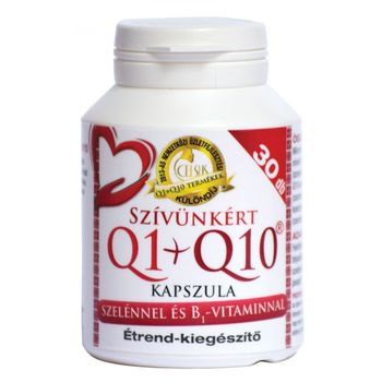Celsus Szívünkért Q1+Q10 + szelén  + B1 vitamin kapszula 30db