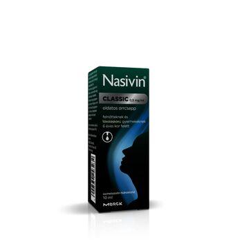 Nasivin Classic 0,5 mg/ml oldatos orrcsepp iskolás kortól 10 ml