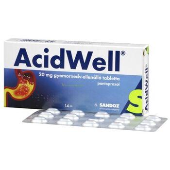 AcidWell 20 mg gyomornedv-ellenálló tabletta 14 db