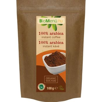 BioMenü BIO 100% Arabica instant kávé 100g
