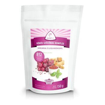 Pharmacoidea Mentalfitol Vörös szőlőmag komplex porkeverék B12-vel 150g (30 adag)