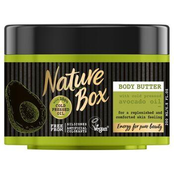 Nature Box Avokádó testvaj a táplált bőrért 200 ml