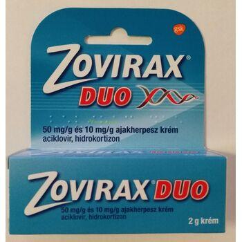 Zovirax Duo 50 mg/g és 10 mg/g ajakherpesz krém 2 g