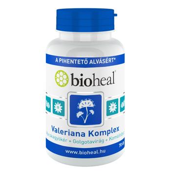 Bioheal Valeriana Komplex (Macskagyökér+Golgotavirág+Komlótoboz)  70 db
