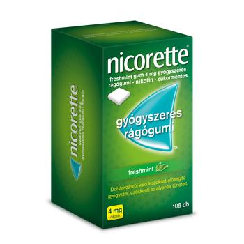 Nicorette freshmint gum 4mg rágógumi 105 db