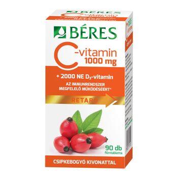 Béres C-vitamin 1000 mg retard + D3 2000 NE filmtabletta, 90 db