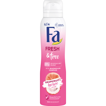 Fa deospray Fresh & Free Grapefruit & Lychee scent
