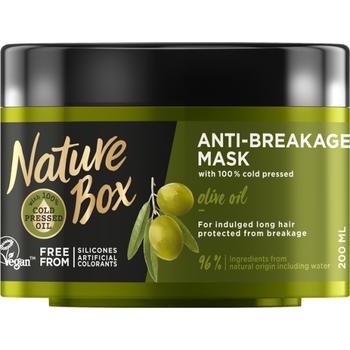 Nature Box tégelyes pakolás Olíva hosszú hajra