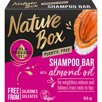 Nature Box szilárd sampon Mandula a gyönyörű hullámokért