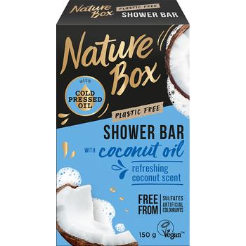 Nature Box szilárd tusfürdő Kókusz az ápolt bőrért