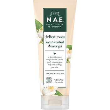 N.A.E. bio tusfürdő illatsemleges Delicatezza bio narancsvirág kivonattal 200 ml