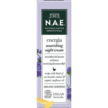 N.A.E. bio tápláló éjszakai arckrém Energia sóvirág kivonattal és bio napraforgóolajjal 50 ml
