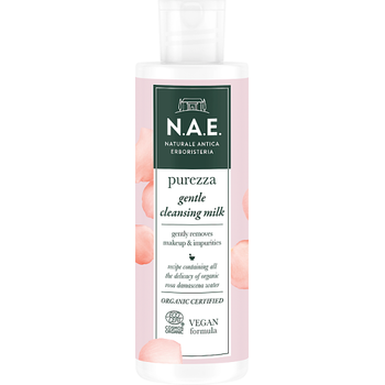 N.A.E. bio arctisztító tej Purezza bio damaszkuszi rózsavízzel 200 ml