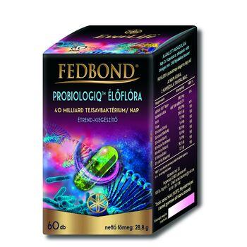 FEDBOND® PREBIOLOGIQ Élőflóra, bélben oldódó étrend-kiegészítő kapszula