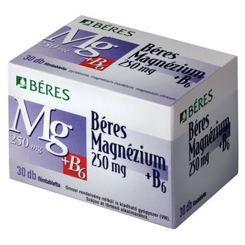 Béres Magnézium 250 mg + B6 filmtabletta 30 db