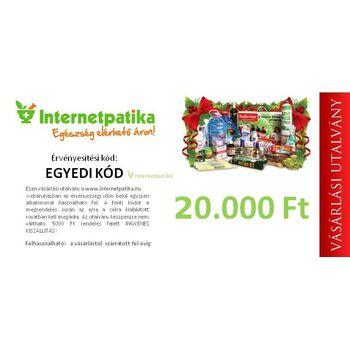 Internetpatika vásárlási utalvány 20.000,- forint értékben