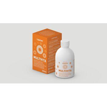 LIPOCELL -MULTIVITA Liposzómás vitaminokat tartalmazó folyékony étrend-kiegészítő 250 ml