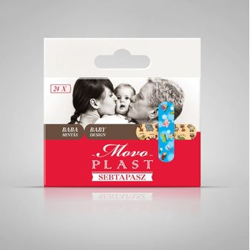 Movo® Plast sebtapasz Baby design 24db