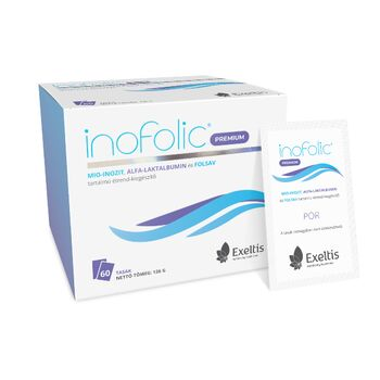 Inofolic® Premium mio-inozit, alfa-laktalbumin és folsav tartalmú étrend-kiegészítő 60 db