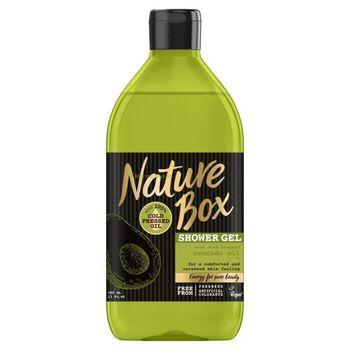 Nature Box Avokádó tusfürdő a táplált bőrért 385 ml