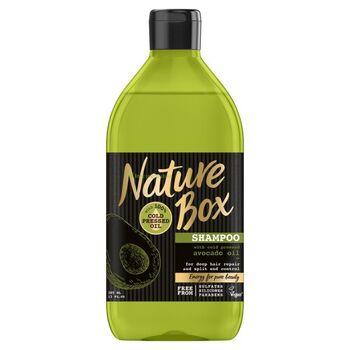 Nature Box Avokádó sampon a regenerált hajért 385 ml