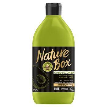 Nature Box Avokádó hajbalzsam a regenerált hajért 385 ml
