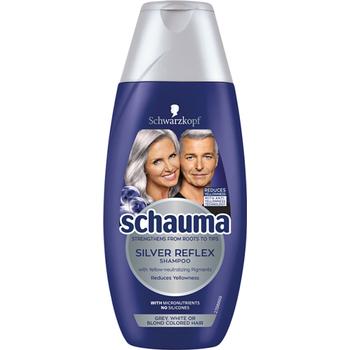 Schauma sampon Hamvas csillogás (sárga hatás elleni összetevővel, szőkített és ősz hajra)