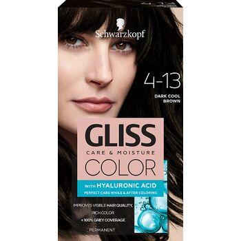 Schwarzkopf Gliss Color tartós hajfesték 4-13 Hűvös sötétbarna