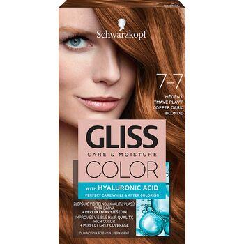 Schwarzkopf Gliss Color tartós hajfesték 7-7 Rezes sötétszőke