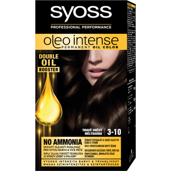 Syoss Color Oleo intenzív olaj hajfesték 3-10 mélybarna